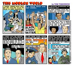 "Cartoon: ""Protect and Serve"".  By Tom Tomorrow. http://www.dailykos.com/story/2015/01/05/1355204/-Cartoon-Protect-and-serve#comments"
