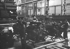 ...Germany 1943...Pzkpfw VI Tiger tanks at the factory...