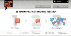 @Thunderclap is the first-ever crowdspeaking platform that helps users be heard by saying something together.