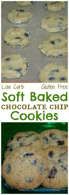 If you prefer soft buttery keto cookies, these gluten free low carb chocolate chip cookies are sure to satisfy. They tastes very close to the real thing. | LowCarbYum.com via @lowcarbyum