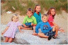 A photo puzzle of the kids is a great present for Mom or Dad! Custom Jigsaw Puzzles, Photo Jigsaw Puzzle, Puzzle Maker, Presents For Mom, Make Photo, Family Day, Personal Photo, Birthday Presents, Custom Photo