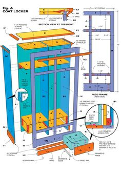 Plans for a Storage Locker / Cabinet
