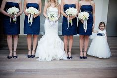 Navy blue and white. <3