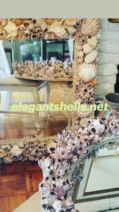 Seashell Chandelier, Island Horse, Shell Crafts, Fireplace Surrounds, Luxury Interior Design, Beach House Decor, Sea Shells, Diy Crafts, Mirror
