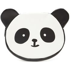Forever 21 Panda Coin Purse (455 RUB) ❤ liked on Polyvore featuring bags, wallets, coin pouch, coin pouch wallet, forever 21 wallets, coin purse wallets and zippered change purse