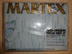 New Vintage Martex Percale Twin Flat Bed Sheet by VintageyItems