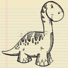 Dinosaur Doodle Sketch... pic source