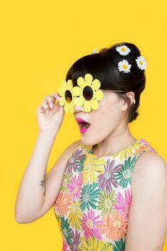 DIY Daisy Sunglasses On Brit + Co