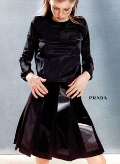 Angela Lindvall by Norbert Schoerner | Prada F/W 1998