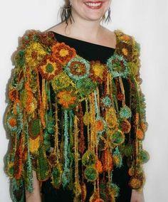 Flamboyant Fringes freeform crochet PDF by FreeformByPrudence