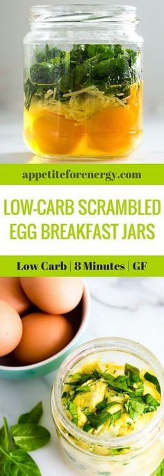 Revolutionize your mornings by shaking up a Low-Carb Scrambled Egg Breakfast Jar. Prepare the night before for a grab & go breakfast or whip up in 8 minutes flat. FOLLOW us for more 30 Minute Recipes. PIN & CLICK through to get the recipe! |Low-carb diet |ketogenic diet |keto diet |keto egg recipes| low carb diet scrambled eggs|gluten free breakfast recipes|Low carb breakfast recipe| #keto #lowcarbrecipes #ketorecipes #lowcarbdiet #scrambledeggs #easylowcarbrecipes #eggrecipes
