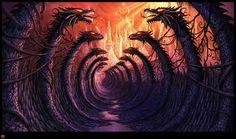 ♥ Dragon Path...     Art by Philip Straub