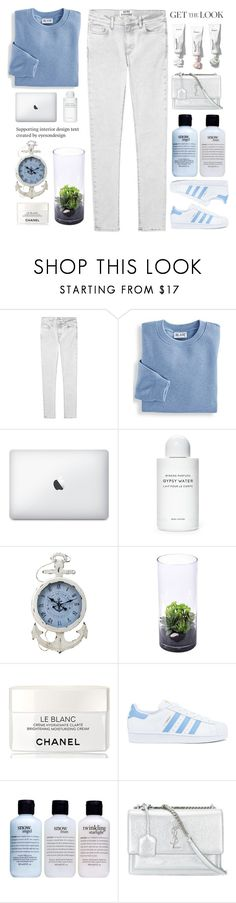 """""""You're sayin' that your tired of all your empty habits"""" by itaylorswift13 ❤ liked on Polyvore featuring Acne Studios, Blair, Byredo, Chanel, adidas, philosophy and Yves Saint Laurent"""