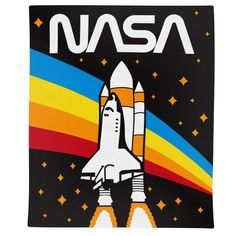 Polyester Sublimated Print Soft, High-Quality Fabric Great For Getting Cozy, The Beach, A Picnic or Travel Nasa Rocket, Rainbow Room, Rock Decor, Cartoon Faces, Space Theme, Getting Cozy, Bedroom Themes, Kid Spaces, Fun Projects