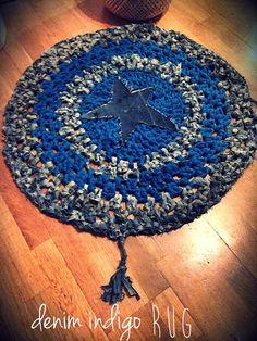 Sterne Denim-Teppich von MechantStudio auf Etsy