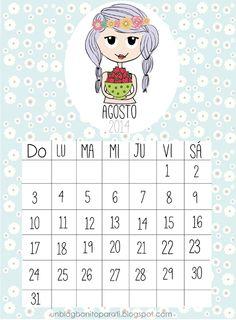 Calendario para el mes de agosto