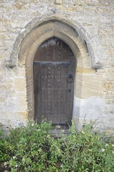 Little used door at Peterborough Cathedral, England