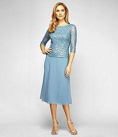 Alex Evenings Sequin Bodice Dress #Dillards