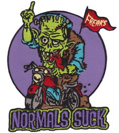 NORMALS SUCK PATCH $10.00 #patch #accessories #normalssuck #freaks