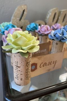 Mix & Match your favorite spring colors to customize your wedding place card table! These beautiful rose & vintage cork name card holders come in dozens of colors to match your wedding theme perfectly. Wedding Places, Wedding Place Cards, Name Card Holder, Place Card Holders, Nice Handwriting, Vintage Wine, Blooming Rose, Seating Chart Wedding, Vineyard Wedding