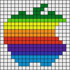 Apple logo perler bead pattern