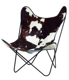 AA Butterfly chair with cow skin cover