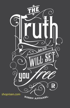 The truth will set you free t-shirt | John 8:32 | Christian Tee Shirt | Clothes