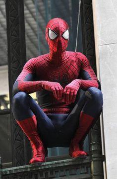6 Amazing Spider-Man 2 set shots show off Spideys new slick suit