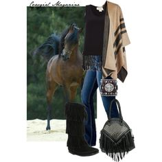 """Cowgirl Cute: Fabulous Fringe"" by cowgirlmagazine on Polyvore @cowgirlmagazine featuring #BulletBlues #jeans #madeinUSA www.bulletbluesca.com"