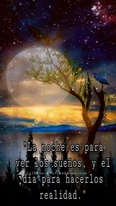 Morning Love Quotes, Good Night Quotes, Good Night In Spanish, Spanish Inspirational Quotes, Good Night Gif, Beautiful Nature Wallpaper, Good Night Sweet Dreams, Keep Calm Quotes, Motivational Phrases