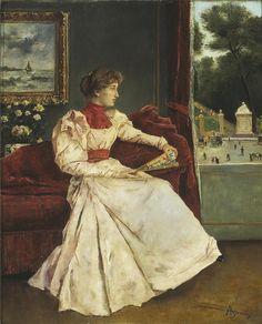 Alfred Stevens (1823-1906)  Chez soi