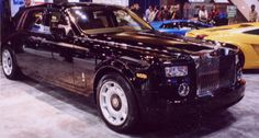 Shiny black Rolls Phantom.