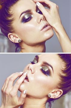 Todays look-glossy eyeshadow by Linda sminkberg
