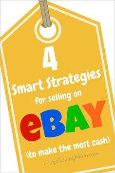 4 Smart Strategies for Selling on eBay (to Make the Most Money) So you've decided to bring in some extra money by selling items on eBay. Whether you're looking for a full-time income or just want to make some money for the items sitting around your house, spending a little bit of time on your listings can help you make more money.