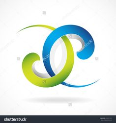 Abstract symbol, interweaving spiral lines, emblem  of movement, concentration, duality, unity. Can be used as corporate logo, for project, web-icon. Vector, isolated.