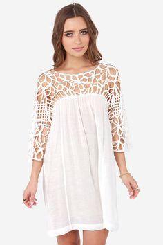 New dress white beach fashion Ideas Dresses For Teens, Trendy Dresses, Elegant Dresses, Beautiful Dresses, Vintage Dresses, Nice Dresses, Short Dresses, Dresses For Work, Country Summer Dresses
