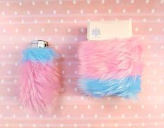 Fuzzy Pink Cigarette Case Girly Lighters Furry Cute by Kerenika