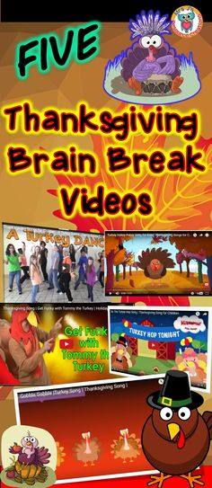 Check out these fun Thanksgiving themed brain breaks to use in the classroom. Thanksgiving Videos, Thanksgiving Preschool, Thanksgiving Prayer, Thanksgiving Appetizers, Thanksgiving Outfit, Thanksgiving Decorations, Brain Break Videos, Movement Activities, Holiday Activities