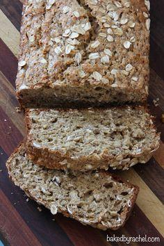 Whole Wheat Oatmeal Banana Bread