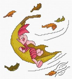 free cross stitch patterns in pdf format with piglet