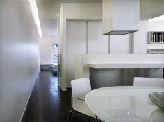white and steel kitchen