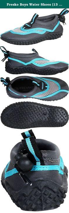 Grey Fresko Navy Little Boys Shark Aqua Water Shoe