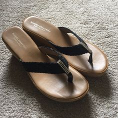 Summer Wedges Sandals Never worn summer sandals! There's no size stamped anywhere on the shoes but I'm 90% sure they're an 8.5. You're getting a great deal! Marzia Vellutini Shoes Sandals