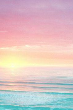 Pretty colors, sky fading into the sea