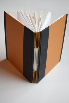 I've always wanted to do a buttonhole stitch book, but it looked hard and complicated. Would the stitching hold the book block onto the hardcover? It looked a bit flimsy. And those long stitches with. Gold Paper, Paper Art, Paper Crafts, Diy Crafts, Hardcover Sketchbook, Button Hole Stitch, Book Spine, Watercolor Sketchbook, Stitch Book