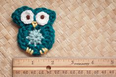 Tiny Crochet Owl Embellishment Pattern