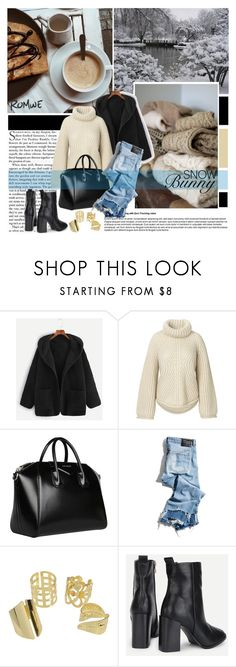 """""""SNOW Bunny /Romwe"""" by pinki1994 ❤ liked on Polyvore featuring Givenchy, R13, contest, romwe and snow"""