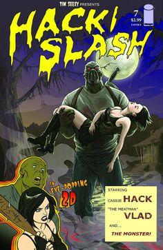 HACK/SLASH Image of the Day 2/25/14  Emily Stone's cover to Hack/Slash #7 (Image)  #emilystone #hackslash #hackslashiotd #vlad #cassiehack