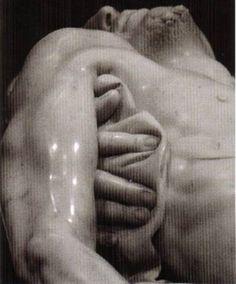 Michelangelo's Pietà detail
