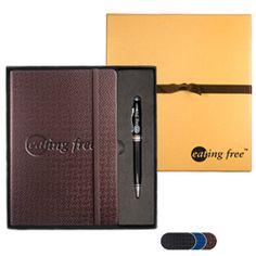 Textured Tuscany™ Journal w/Executive Stylus Pen Set